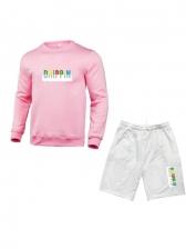 Colorful Letter Printing Men Fashion Gym Wear
