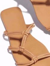 Square Toe Beach Womens Slippers