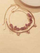 Full Rhinestone Vintage Fashion Layered Necklace