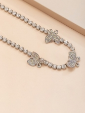 Full Rhinestone Simple Fashion Butterfly Necklace