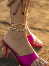 Punk Style Rhinestone Anklet Women Chic
