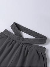 Summer Loose High Waist Track Pants