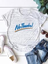 Letter Crew Neck Plus Size T Shirt