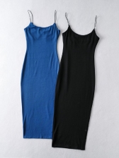 Casual Solid Camisole Sleeveless Dress Summer