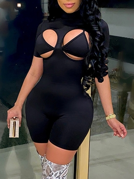 Sexy Bra With Short Sleeve Romper