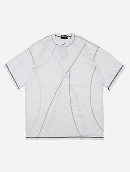 Simple Solid Short Sleeve Men Tee Shirt