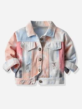Fashion Tie Dye Long Sleeve Kids Jackets