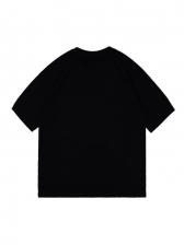 Versatile Letter Short Sleeve Tee Shirt