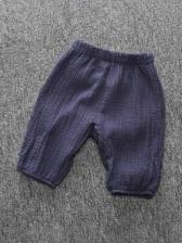 Simple Solid Wide Leg Baby Long Pants