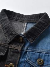 Color Block Long Sleeve Winter Jacket Boy