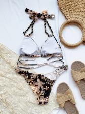 Printed Sea Side Beach Bikini Sets Ladies