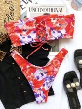 Sexy Tie Wrap Cropped Tank Bikini