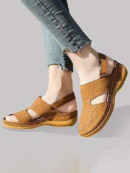 Half Closed Toe Printed Ladies Sandal