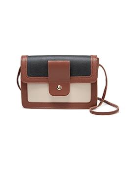 Contrast Color Small Shoulder Bags Ladies