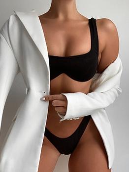 Sexy Solid Tank Bikini For Women