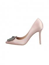 Fashion Rhinestone Pointed Toe High Heel Shoes