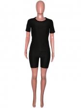 Solid Short Sleeve Yoga Sport Trouser Sets