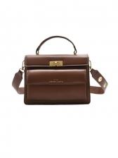 Fashion Solid Letter Ladies Handbags