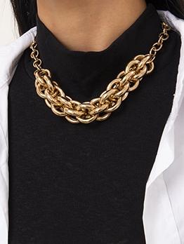 Hip Hop Street Geometric Thick Necklace