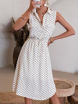 Vintage Polka Dots Sleeveless Summer Dresses
