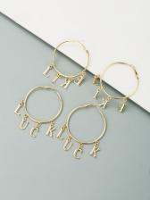 Casual Versatile Letter Geometry Fashion Earrings