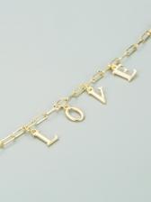 Trendy Simple Letter Alloy Material Bracelet