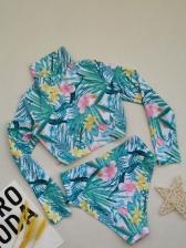 Plus Size Latest Print Two Pieces Swimsuits Sets