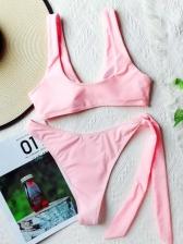 Sexy Charming V Neck Two Pieces Bikini Set