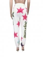 Loose Print Casual Pants For Women