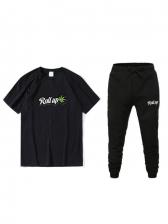 New Print Short Sleeve Mens Activewear
