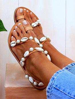 Fashion Round Toe Flat Beach Summer Sandals