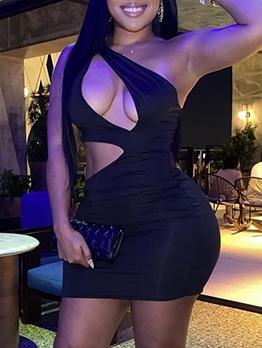 Sexy Nightclub Skinny Hollow Out Sleeveless Dress