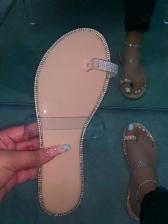 Round Toe Slip On Flat Womens Slippers