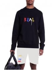O Neck Letter Long Sleeve Mens Activewear