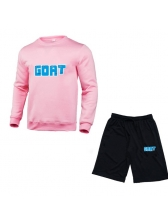 Simple Letter Long Sleeve Matching Workout Sets