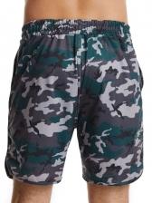 Casual Camouflage Drawstring Mens Short Sweatpants