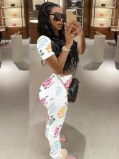 Casual Printed Sport Long Pants Tracksuits Women