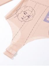 New Gauze Print Bodysuit With Short Pants