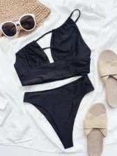 Sexy Black Two Piece Bikini Sets
