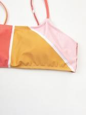 New Contrast Color High Waist Bikini
