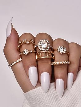 New Street Rhinestone Ring Sets For Girls