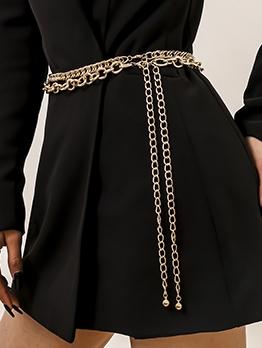 New Solid Layered Designer Belts