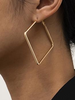 Geometry Square Shape Street Simple Earrings
