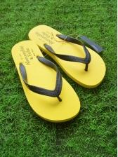 Simple Round Toe Beach Flip Flop Slippers