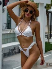Latest Style Lace Solid Bikini Sets Women
