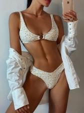 V Neck Seductive Sea Side Bikini Sets