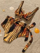 Tie Wrap High Waist Briefs Bikini Outfits