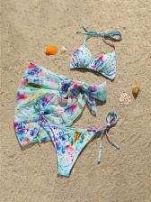 Sexy Holiday Beach Bikini Three Pieces Sets