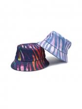 Contrast Color Printed Spring Unisex Bucket Hat