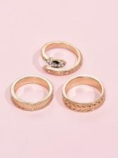 Trendy Easy Match Korean Golden Ring